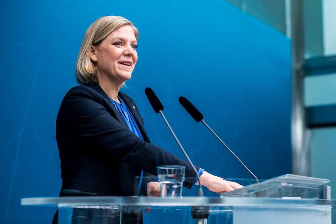 Finansminister Magdalena Andersson(s)