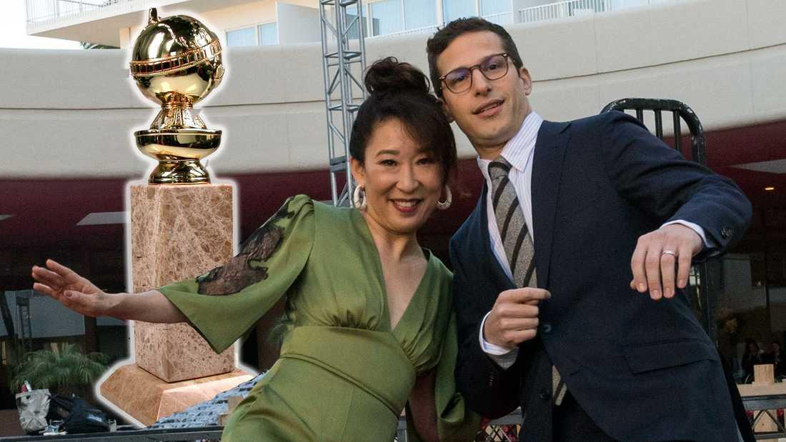 Sandra Oh och Andy Samberg leder Golden Globe-galan 2019.