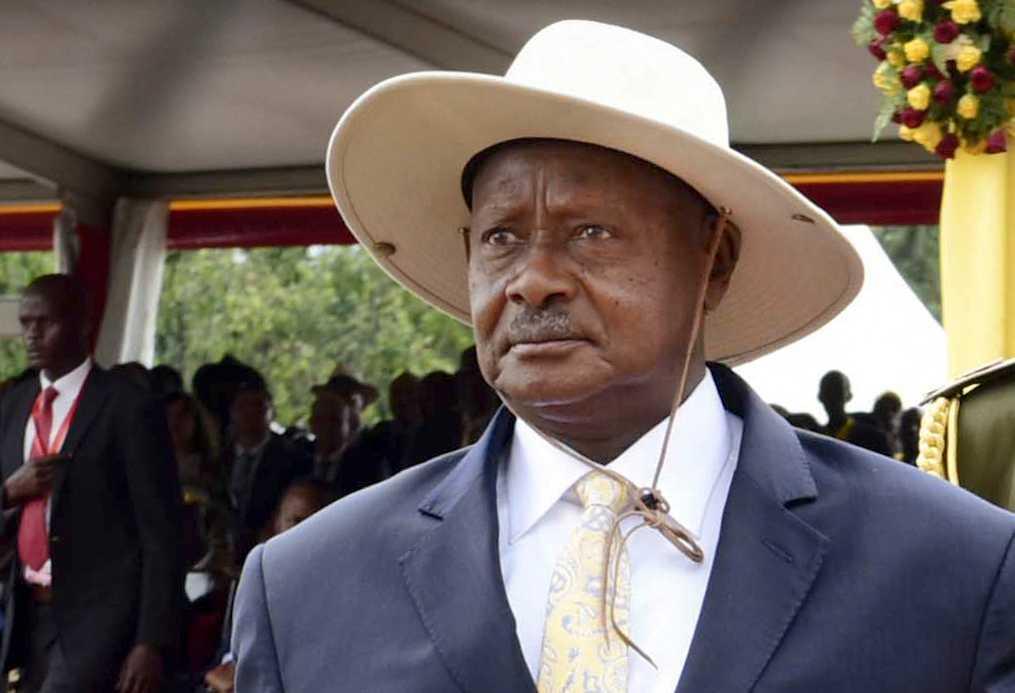 Yoweri Museveni har förbjudit landets invånare att utföra homosexuella handlingar.