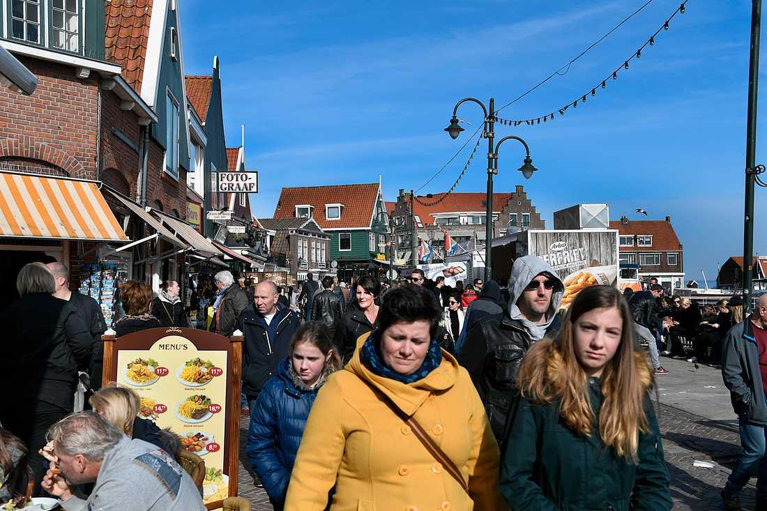 I Volendam röstade hälften av befolkningen på högerpopulisten Geert Wilders förra valet.