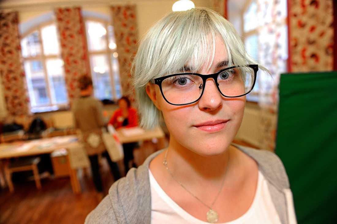 Moa Tärnström har precis röstat.