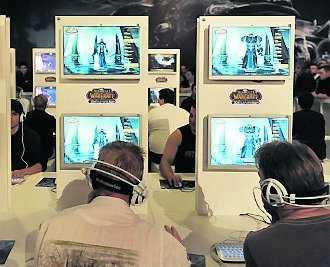 Spelare på ett konvent i Leipzig, Tyskland.