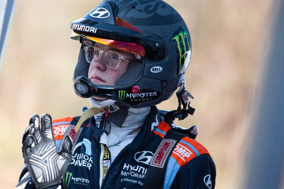 Oliver Solberg kör WRC  Italiens VM-rally
