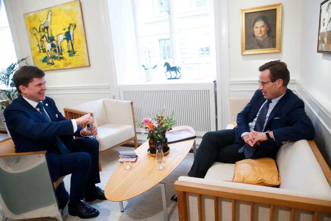 För en vecka sedan gav talman Andreas Norlén (M) Moderatledaren Ulf Kristersson uppdraget att försöka bilda ny regering. Arkivbild