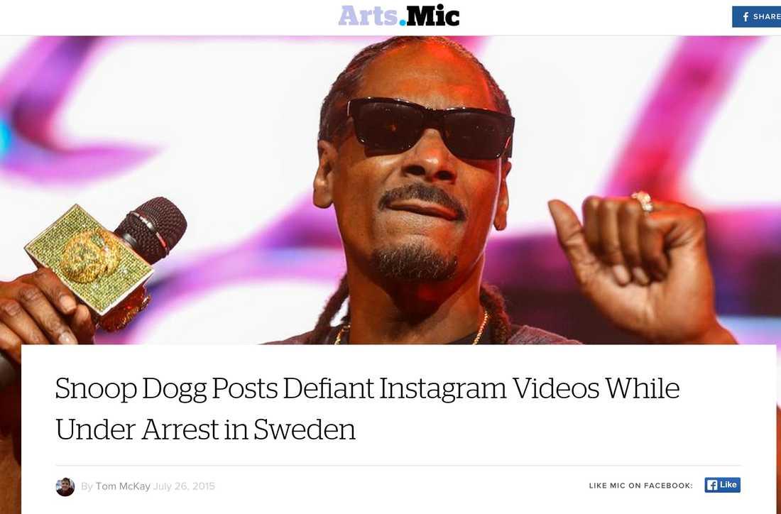 MIC.com Snoop Dogg Posts Defiant Instagram Videos While Under Arrest in Sweden