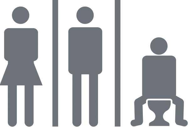 NY TOASYMBOL I SÖRMLAND? Vänsterpartiet i Sörmland vill införa särskilda toaletter i landstingets lokaler där män inte får kissa stående.