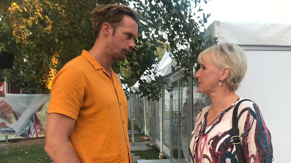 Margot Wallström mötte Alexander Skarsgård på Way Out West.