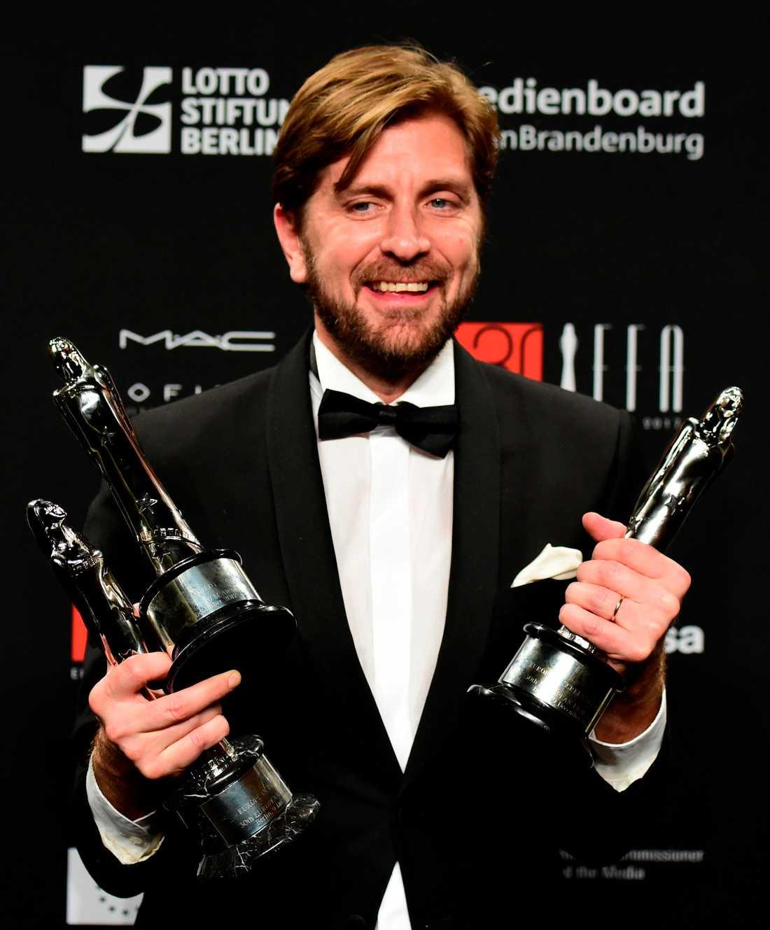 Ruben Östlund med tre av priserna.