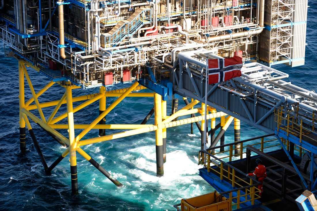 Det forskas på CCS på många håll i världen, bland annat som här i Norge. Arkivbild från Sleipner-plattformen i Nordsjön.