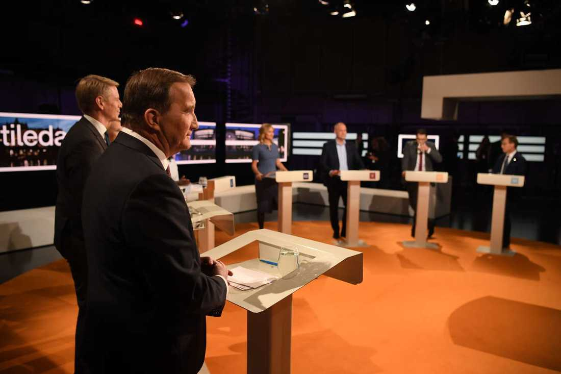Partiledarna debatterade i SVT.
