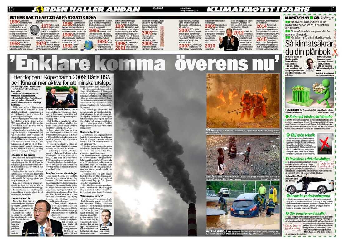 Aftonbladet den 1 december 2015.