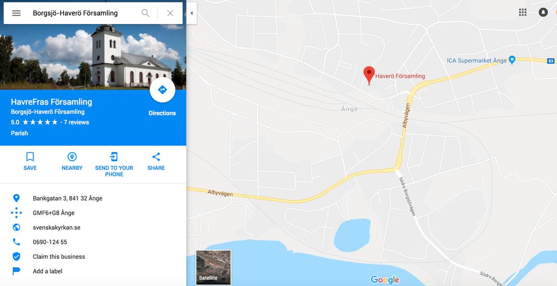 """En googling av """"Borgsjö-Haverö församling"""" leder en numera till """"Havrefras församling""""."""