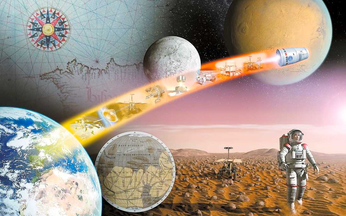 RYMDSTYRELSEN FRAMÅT MARS! Om 50 år har betydelsen av forskning och teknisk utveckling i rymden en ännu större inverkan på hur vi lever våra liv i vardagen, tror experterna.