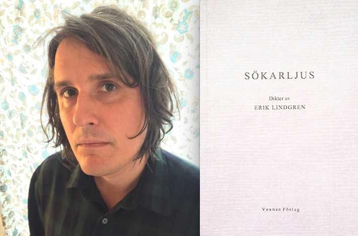 """När det är som bäst blir det ett """"suggestivt mummel"""" – Erik Lindgrens nya diktsamling """"Sökarljus"""" recenseras av Petter Lindgren."""
