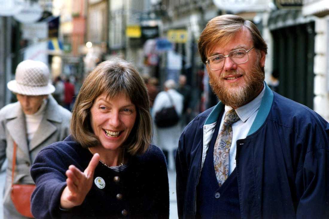 Jan Axelsson 1991 tillsammans med ett av de språkrör han efterträdde, Fiona Björling.