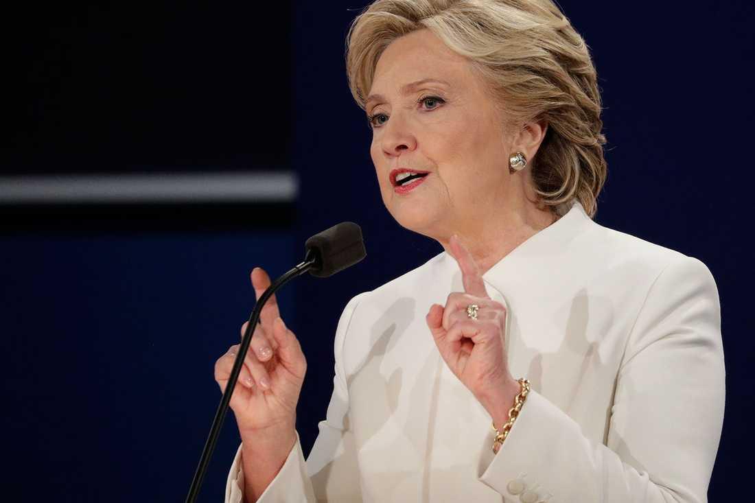 Hillary Clinton under den sista debatten.