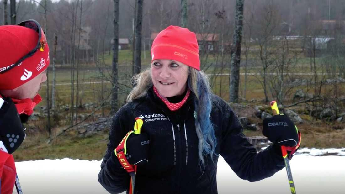 Susanne påbörjar träningen inför första klassikern, Vasaloppet.