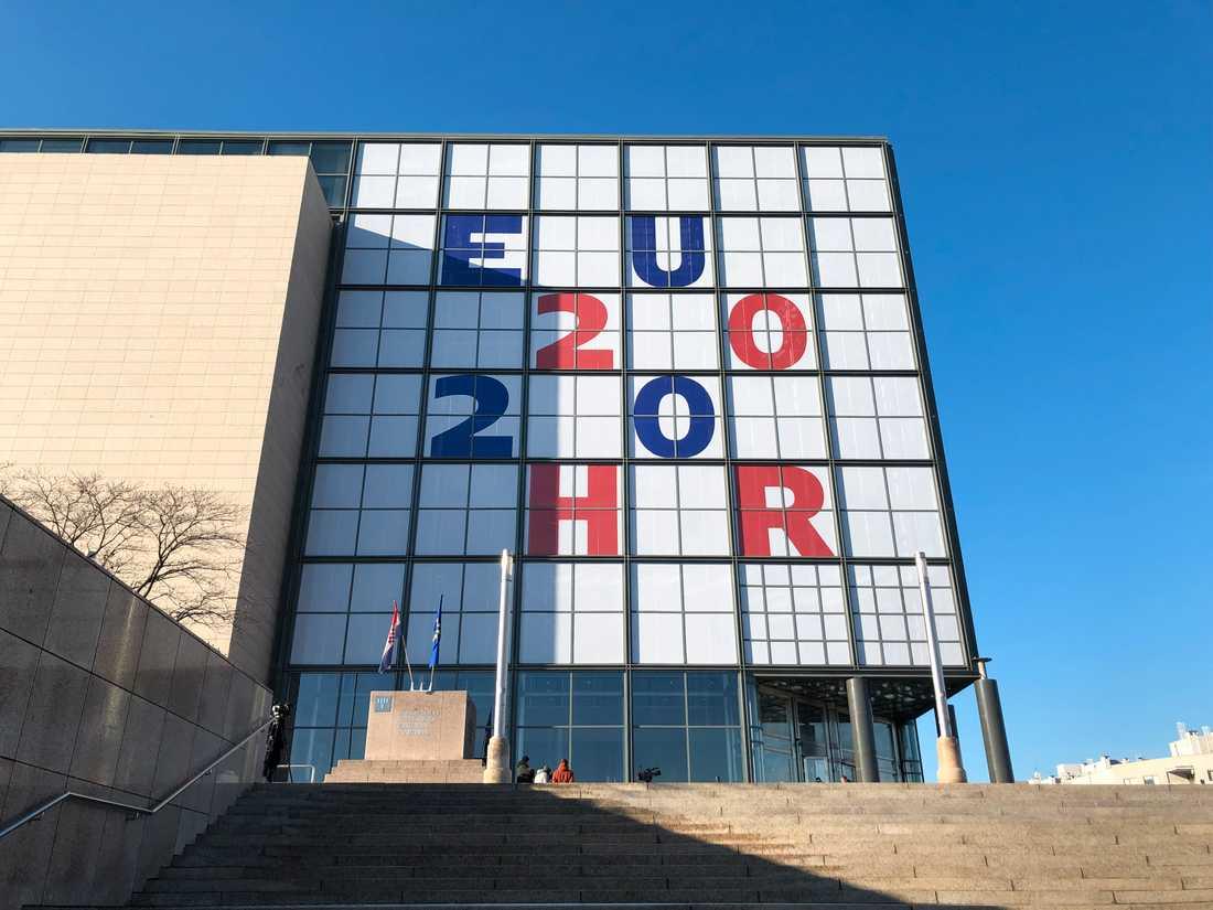 Nationalbiblioteket i Zagreb står i centrum när Kroatien är ordförandeland i EU:s ministerråd under våren.
