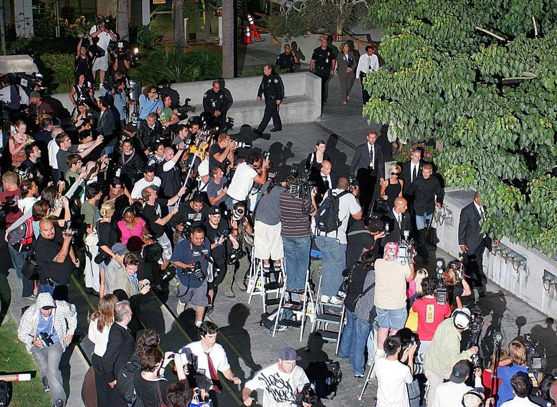 Fullt pådrag. Pressen i Los Angeles bevakar Beckhams ankomst i juli 2007.