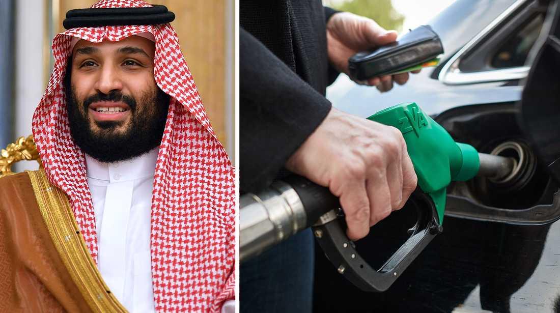 """Mohammed bin Salman: """"Oljepriserna kommer att stiga till ofattbart höga nivåer""""."""