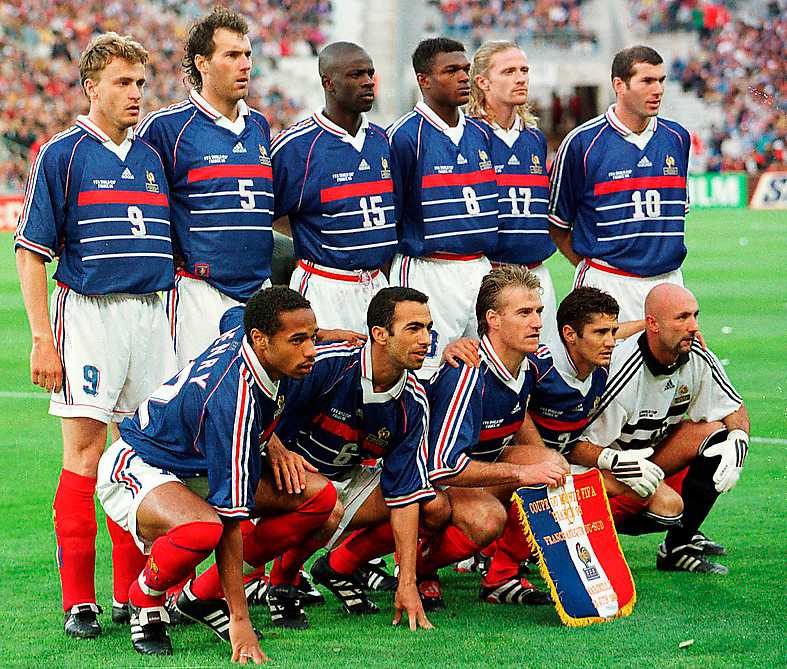 Frankrikes guldlag 1998. Foto: AP