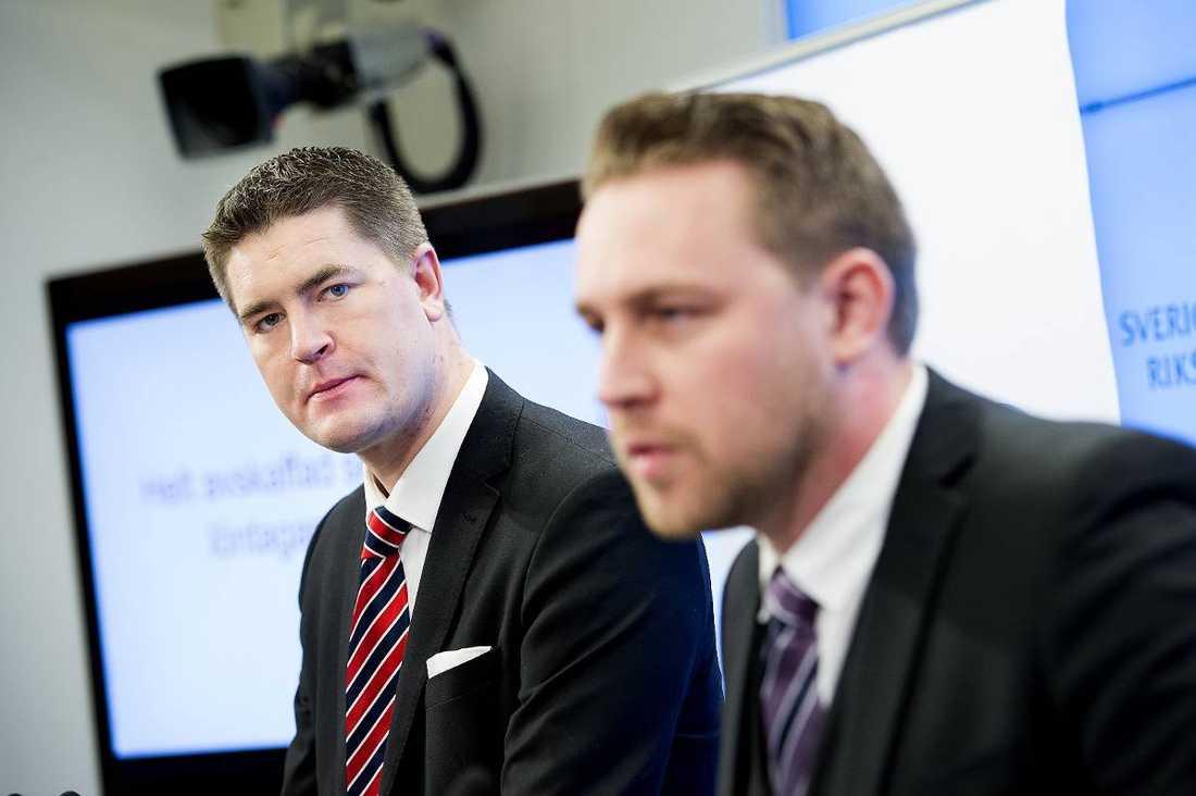 Mattias Karlsson med Oscar Sjöstedt