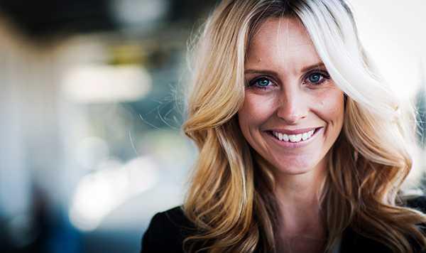 """Deckarförfattaren Emilie Schepp som kom ut med boken """"Nio liv"""" för ett par månader sedan."""