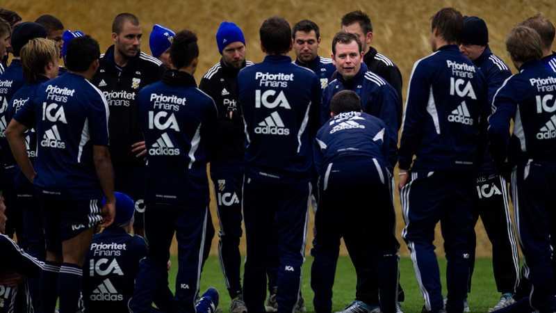 Mikael Stahre på dagens träning – hans första med IFK Göteborg.