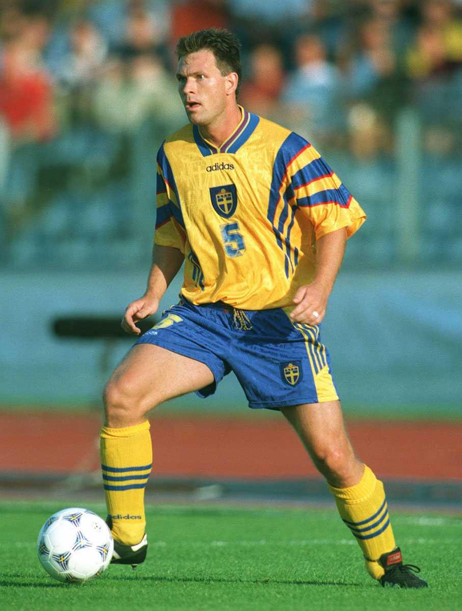 1997 Pontus Kåmark hade nummer fem på tröjan.
