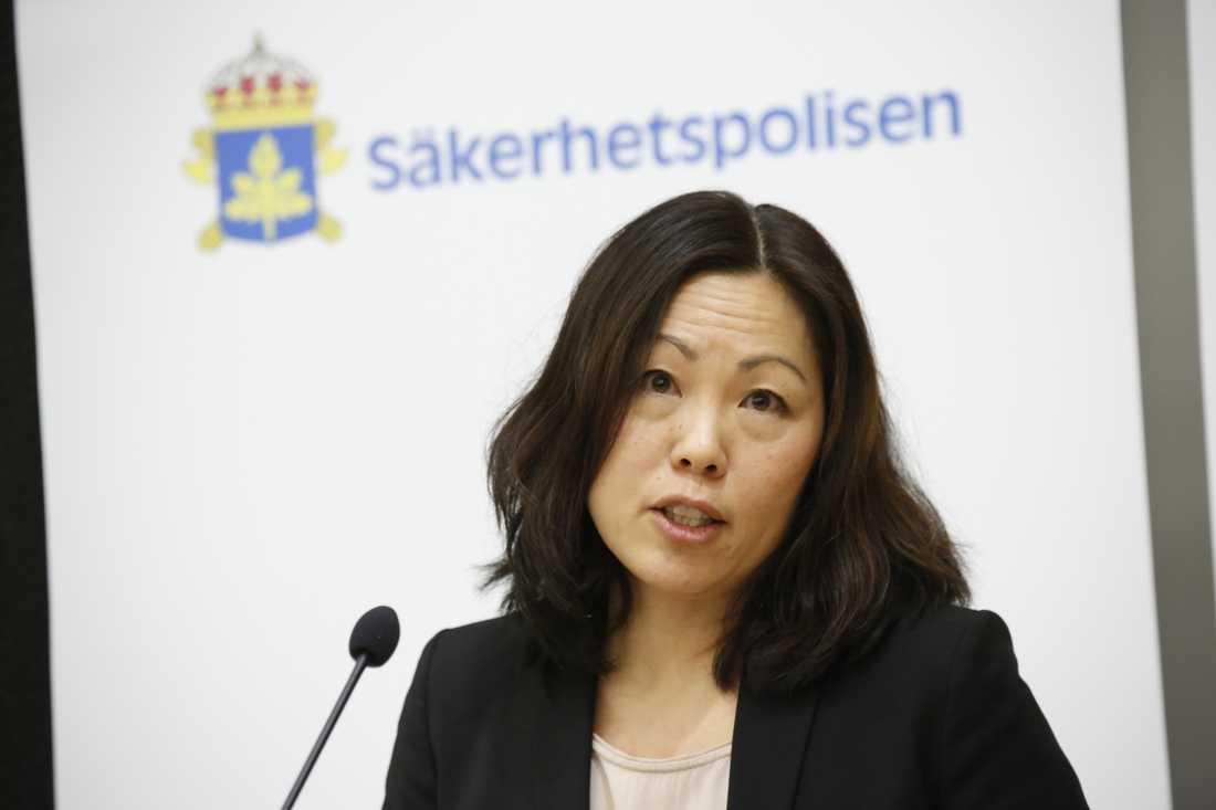 """""""Just nu ser vi inte att det påverkar hotet mot Sverige"""", säger Ahn-Za Hagström, senior analytiker på Säpo. Arkivbild."""