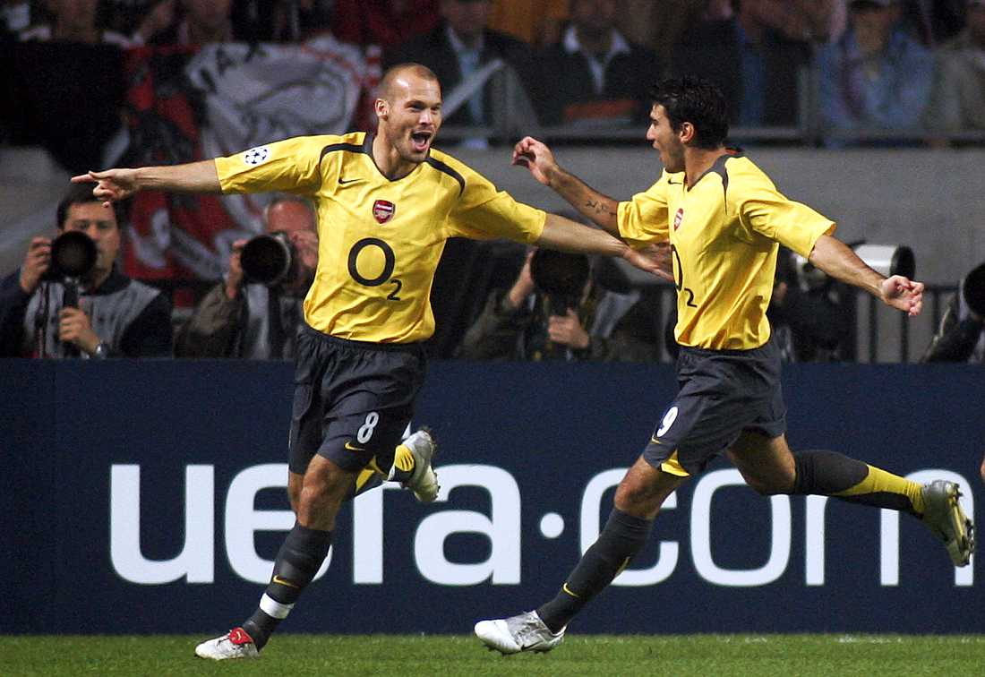 Fredrik Ljungberg och José Antonio Reyes tillsammans i Arsenal.