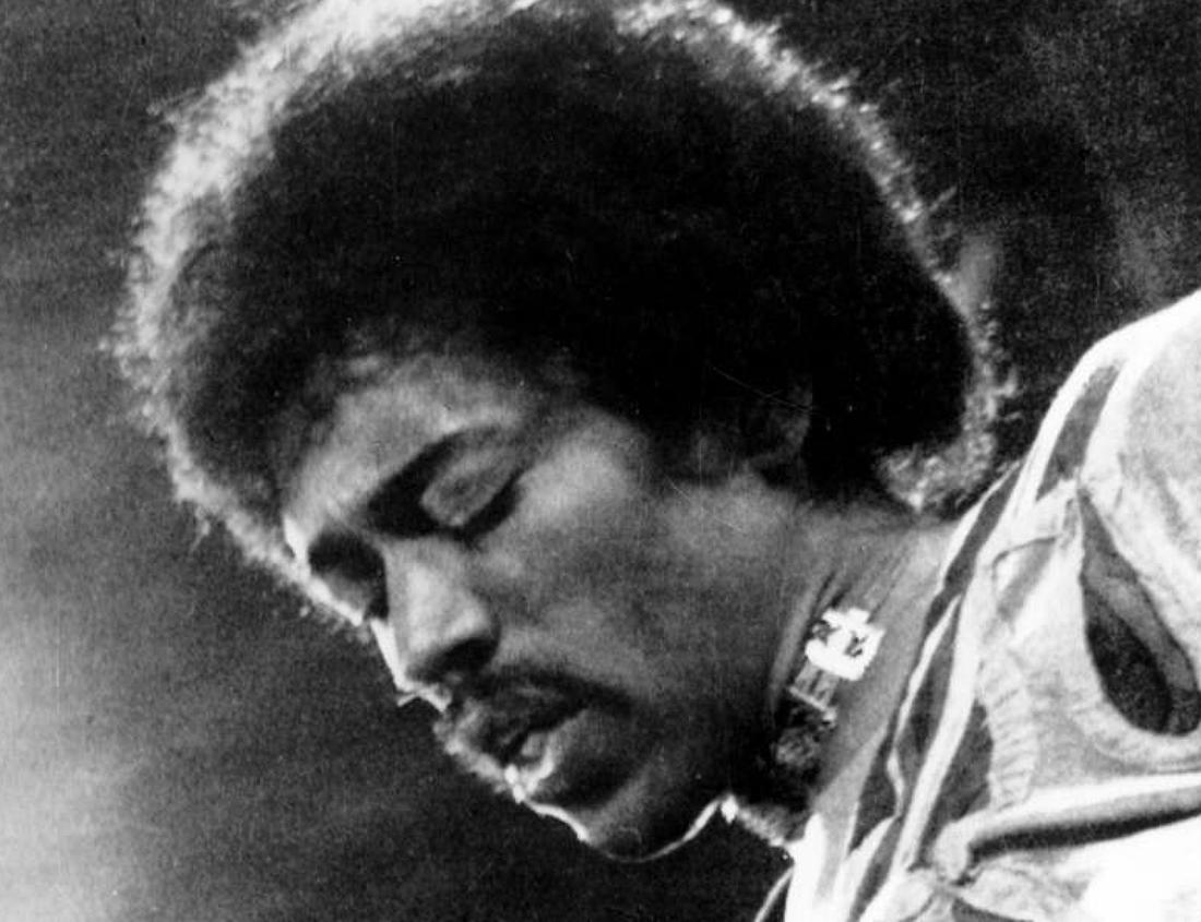Jimi Hendrix uppträder på The Isle Of Wight, 1970.