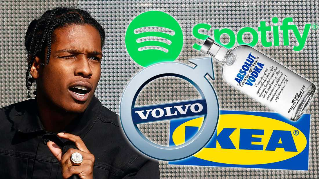 Några av de svenska företag som ASAP Rocky-fansen nu vil bojkotta.