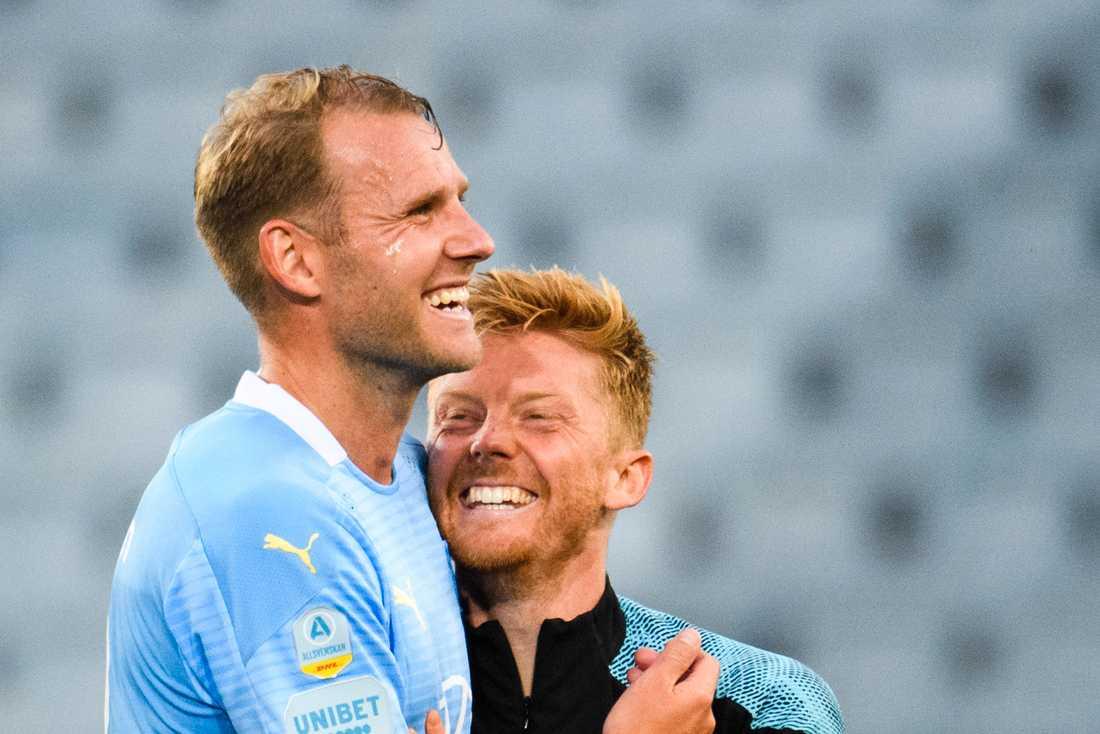 Ola Toivonen (v) och Anders Christiansen (h)