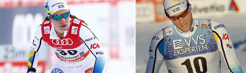 Anna Haag och Daniel Richardsson står över dagens VM-genrep i Östersund.