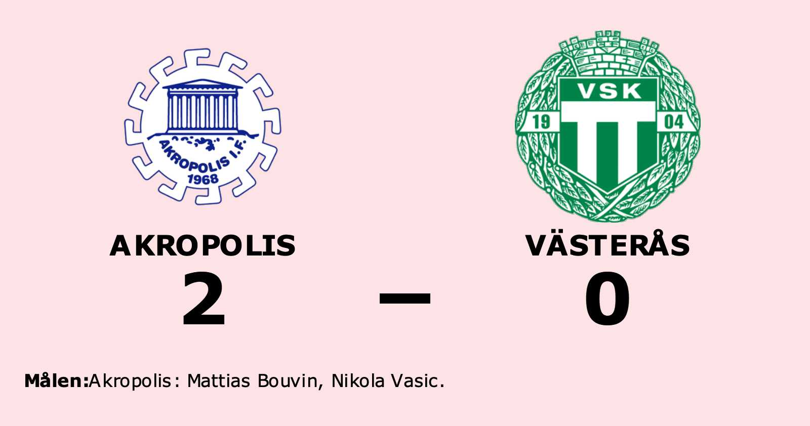 Bouvin och Vasic målgörare i Akropolis seger