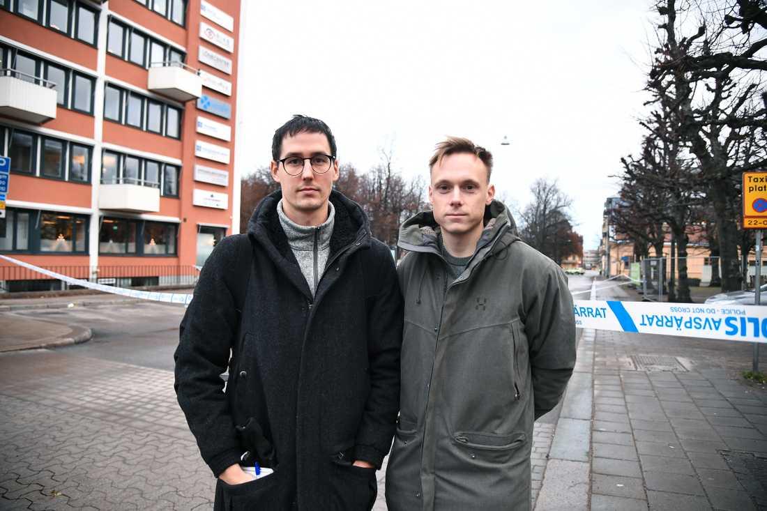 Christoffer Nilsson och Pontus Orre på plats i Norrköping