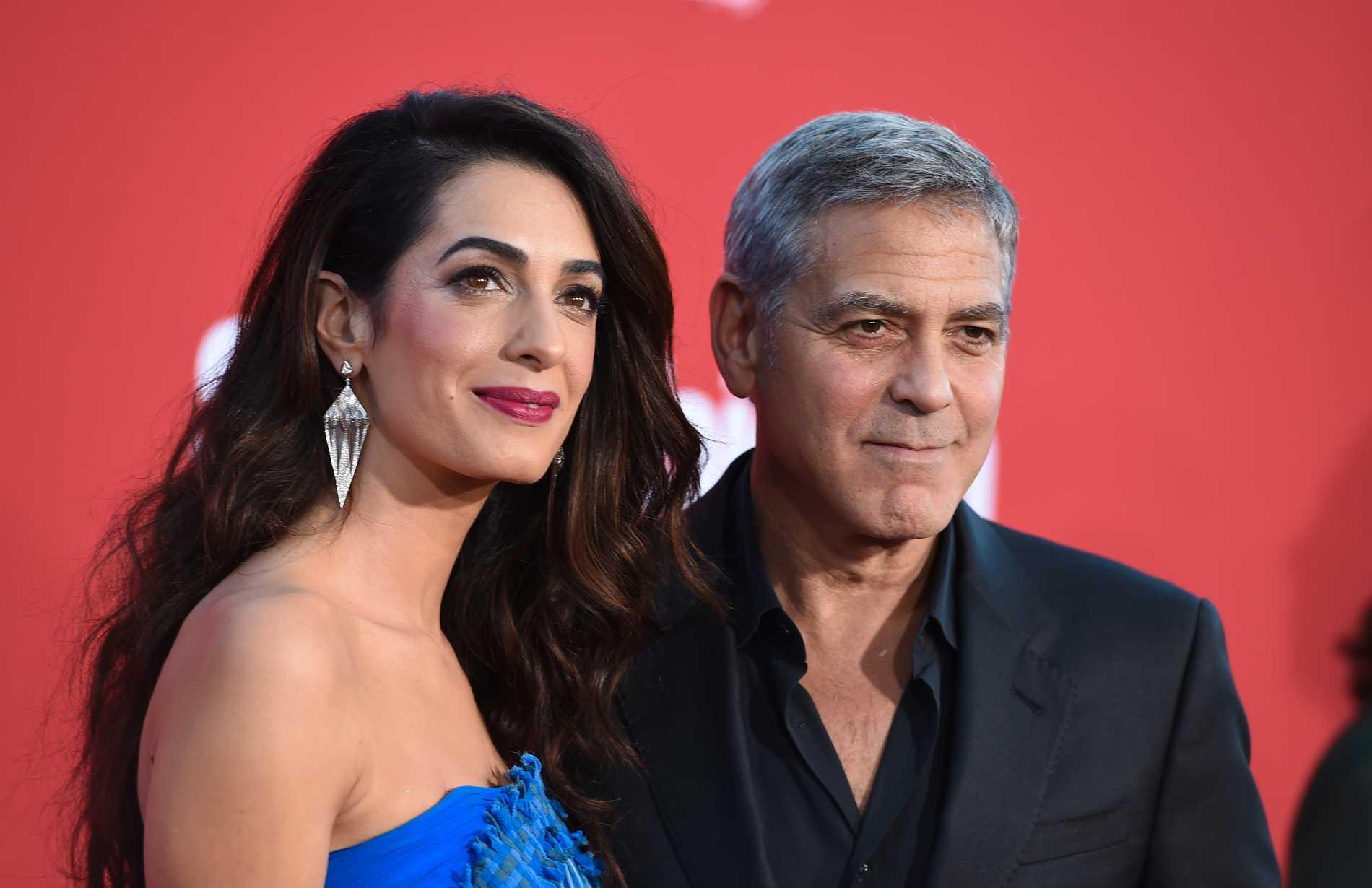 Amal och George Clooney.