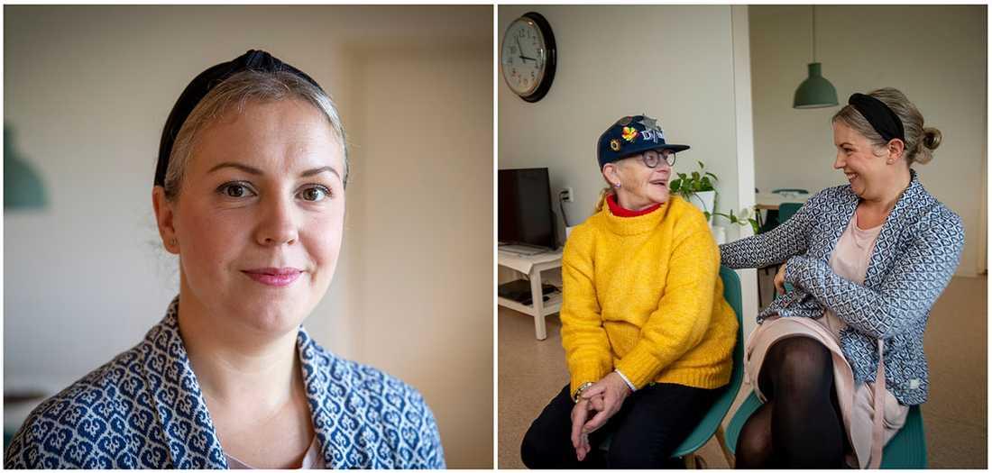Lisa Lundman räddade Monika Anitha Widerberg från branden på ett serviceboende i Höganäs.
