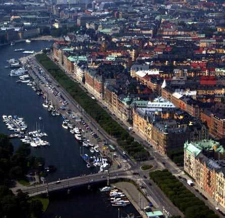 Drabbas om havsnivån stiger med två meter Hela Strandvägen, Stockholm.