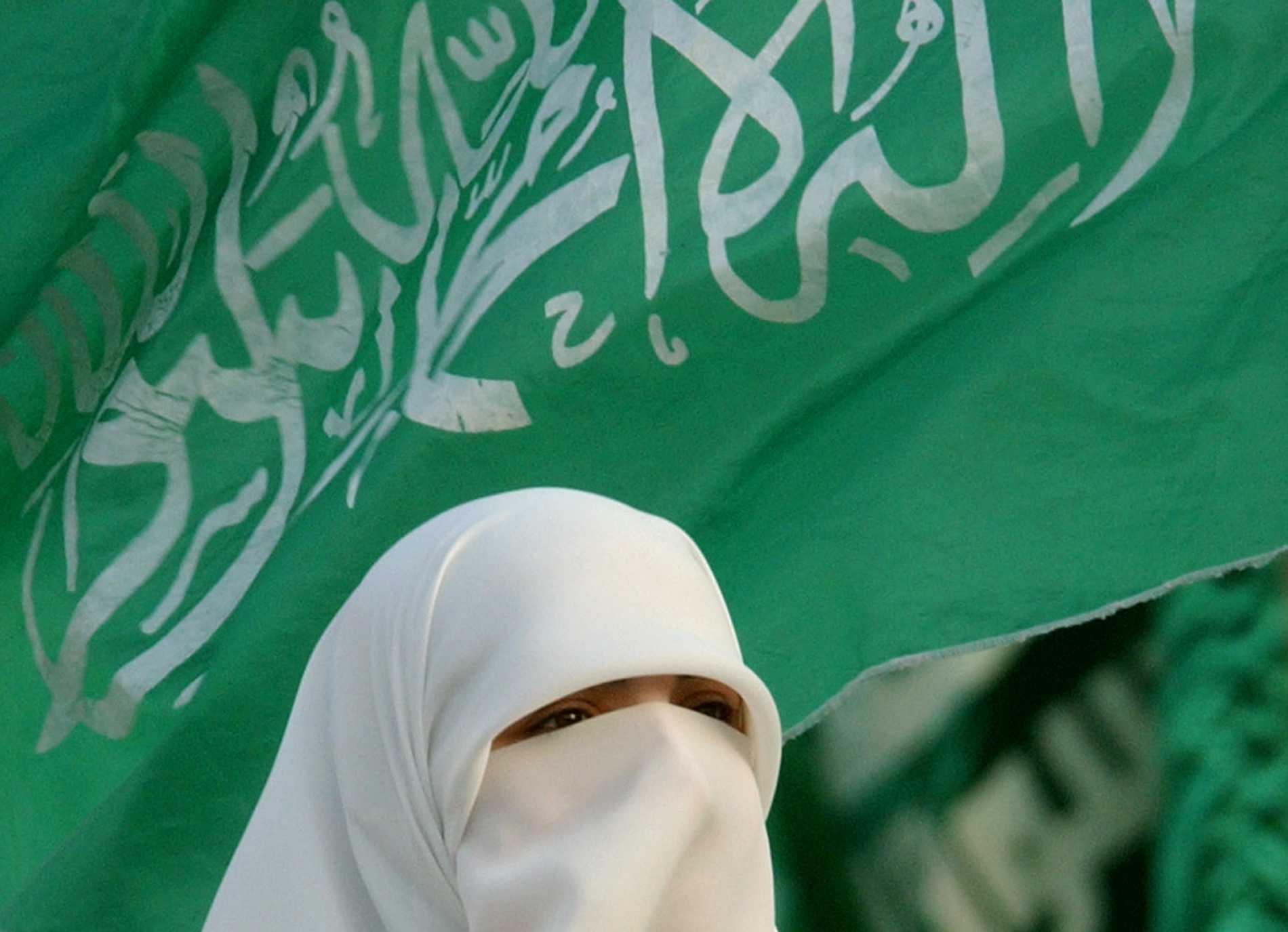 Tysklands regering vill förbjuda Hamas gröna flagga. Arkivbild.