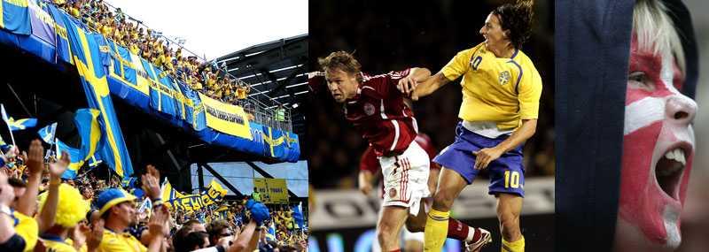 Det är många som vill se mötet mellan Sverige och Danmark. Biljetterna tog slut på mindre än en timme.