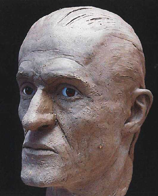 Polisen har försökt rekonstruera den så kallade Ekebymannens utseende. Mannen hittades mördad i Ekeby utanför Helsingborg 2003. Arkivbild.