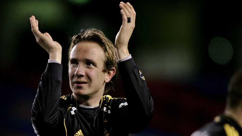 Bernt Hulsker, här i AIK-tröjan, har fått en nystart i norska Start och toppar skytteligan efter åtta omgångar.