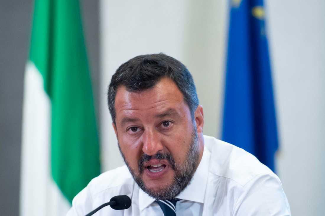 Italiens vice premiärminister Matteo Salvini. Arkivbild.