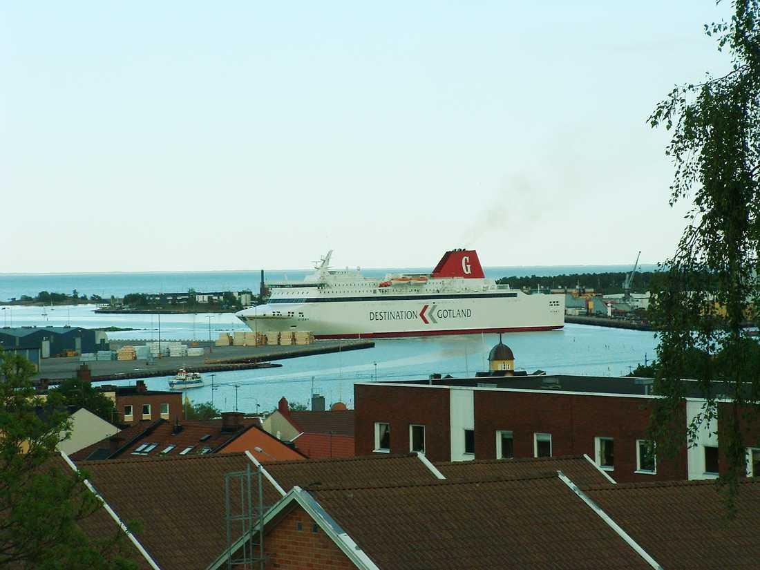 M/S Visby i Oskarshamn. Obs: Arkivbild