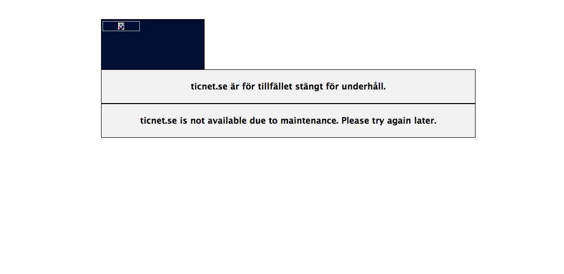 Så här såg det ut när många av Aftonbladets läsare försökte köpa biljetter till Swedish House Mafias extraföreställning.