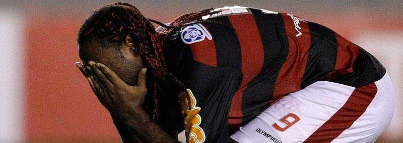 Vagner Love (bilden) och Adriano har lämnat det brasilianska storlaget Flamengo.
