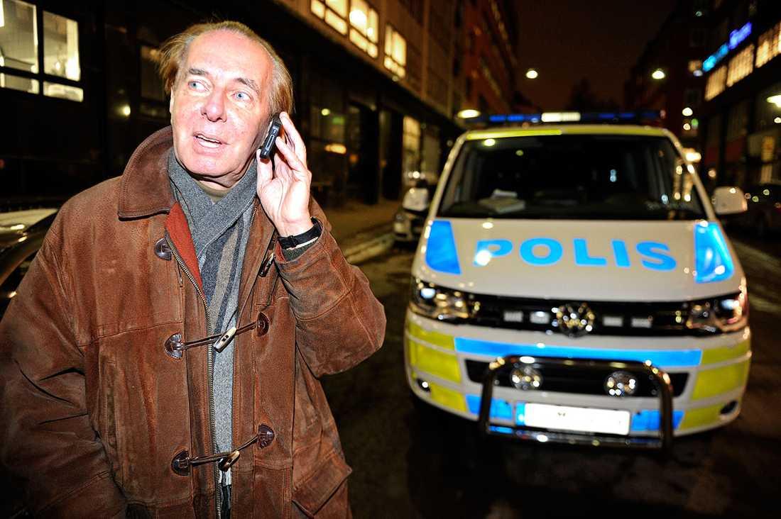 Bror Irgens blev vittne till det dramatiska rånet.