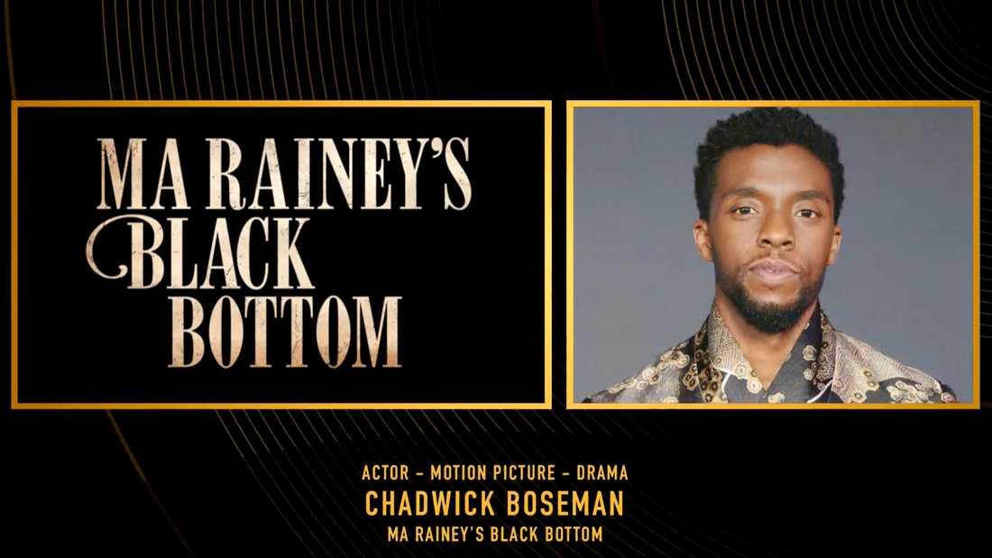 Chadwick Boseman fick årets Golden Globe för bästa manliga huvudroll i ett drama.